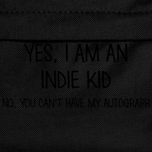 indie kid yes no cant have autograph t-shirt - Kids' Backpack