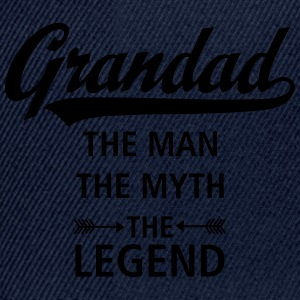 Grandad - The Man - The Myth - The Legend T-Shirts - Snapback Cap