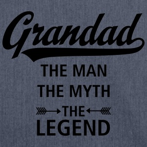 Grandad - The Man - The Myth - The Legend T-Shirts - Shoulder Bag made from recycled material