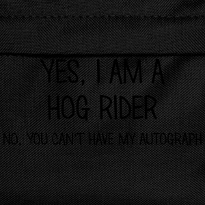 hog rider yes no cant have autograph t-shirt - Kids' Backpack