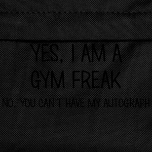 gym freak yes no cant have autograph t-shirt - Sac à dos Enfant
