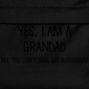 grandad yes no cant have autograph t-shirt - Kids' Backpack