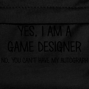 game designer yes no cant have autograph t-shirt - Kids' Backpack