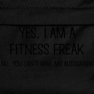 fitness freak yes no cant have autograph t-shirt - Sac à dos Enfant
