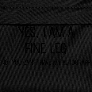 fine leg yes no cant have autograph t-shirt - Kids' Backpack