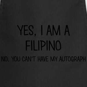 filipino yes no cant have autograph t-shirt - Cooking Apron