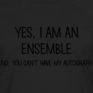 ensemble yes no cant have autograph t-shirt - T-shirt manches longues Premium Homme