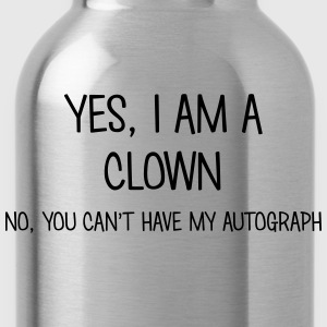 clown yes no cant have autograph t-shirt - Water Bottle