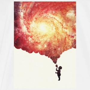 The universe in a soap-bubble - phone Case  Overig - Mannen Premium T-shirt