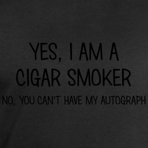 cigar smoker yes no cant have autograph t-shirt - Men's Sweatshirt by Stanley & Stella