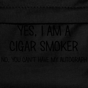 cigar smoker yes no cant have autograph t-shirt - Kids' Backpack