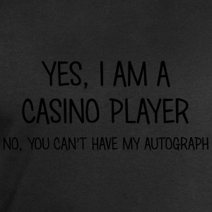 casino player yes no cant have autograph t-shirt - Men's Sweatshirt by Stanley & Stella