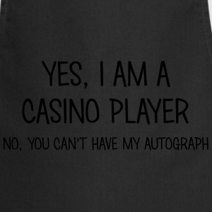 casino player yes no cant have autograph t-shirt - Cooking Apron