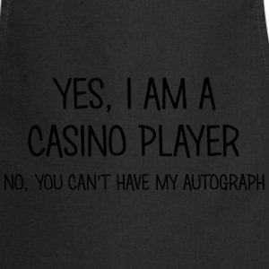 casino player yes no cant have autograph t-shirt - Tablier de cuisine