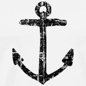 Anchor Vintage (Black) Sailing Design for Sailors Long sleeve shirts - Men's Premium T-Shirt