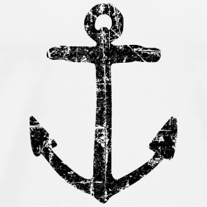 Anchor Vintage (Black) Sailing Design for Sailors Tops - Men's Premium T-Shirt