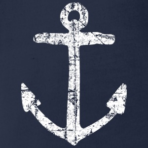 Anchor Vintage (White) Sailing Design for Sailors Shirts - Organic Short-sleeved Baby Bodysuit