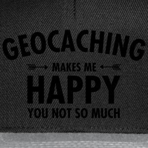 Geocaching Makes Me Happy - You Not So Much Tassen & rugzakken - Snapback cap