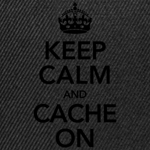 Keep Calm And Cache On T-shirts - Snapback cap