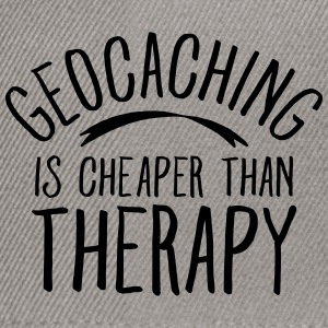 Geocaching Is CHeaper Than Therapy Therapy T-shirts - Snapback cap