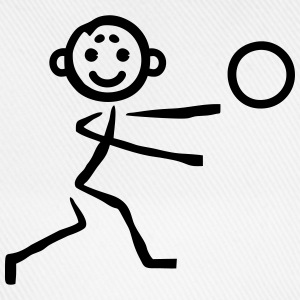 Stick figure with ball Shirts - Baseball Cap