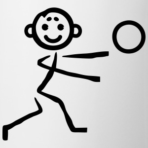 Stick figure with ball Shirts - Mug