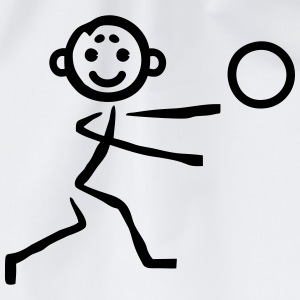 Stick figure with ball T-Shirts - Drawstring Bag