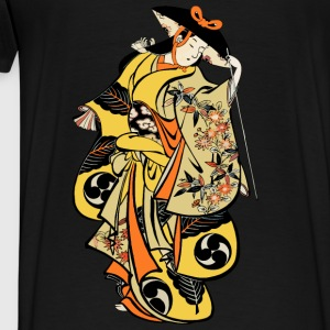 Edo Kabuki Actor Hoodies & Sweatshirts - Men's Premium T-Shirt