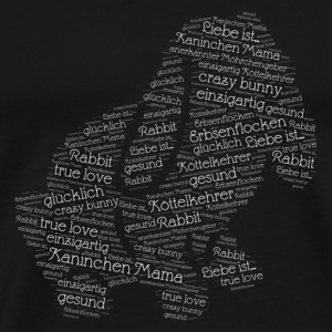 lovely Rabbit words - Männer Premium T-Shirt