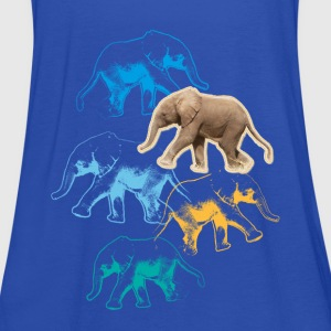 Animal Planet elefant børn T-shirt - Dame tanktop fra Bella