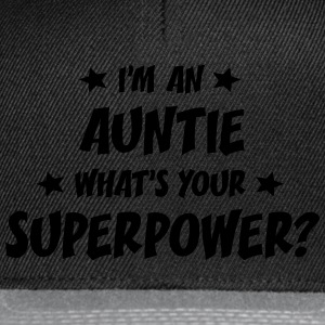 im an auntie whats your superpower t-shirt - Snapback Cap