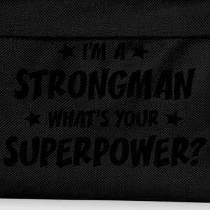 im a strongman whats your superpower t-shirt - Kids' Backpack
