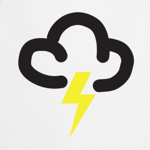 Lighting storm: retro weather forecast symbol tee  - Cooking Apron