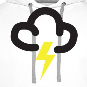 Lighting storm: retro weather forecast symbol tee  - Men's Premium Hoodie
