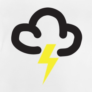 Lighting storm: retro weather forecast symbol tee  - Baby T-Shirt