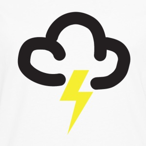 Lighting storm: retro weather forecast symbol tee  - Men's Premium Longsleeve Shirt