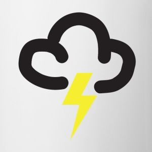 Lightning storm: retro weather forecast symbol tee - Mug