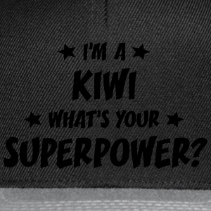 im a kiwi whats your superpower t-shirt - Snapback Cap