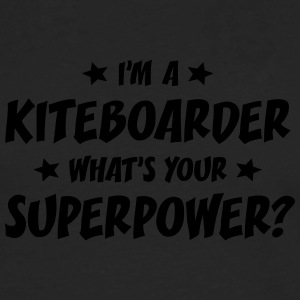 im a kiteboarder whats your superpower t-shirt - T-shirt manches longues Premium Homme