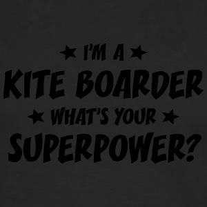 im a kite boarder whats your superpower t-shirt - T-shirt manches longues Premium Homme