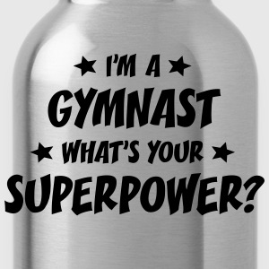 im a gymnast whats your superpower t-shirt - Water Bottle