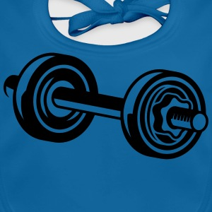 A dumbbell for training Shirts - Baby Organic Bib