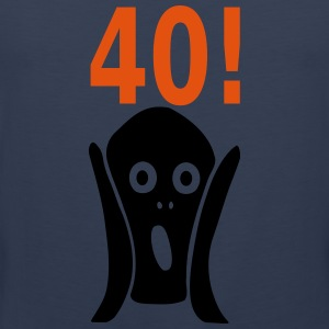 Scary 40th birthday Hoodies & Sweatshirts - Men's Premium Tank Top