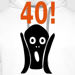 Scary 40th birthday T-Shirts - Men's Premium Hoodie