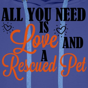 Love and a rescued pet T-Shirts - Männer Premium Hoodie