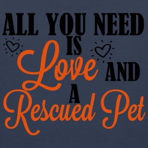 Love and a rescued pet T-Shirts - Männer Premium Tank Top