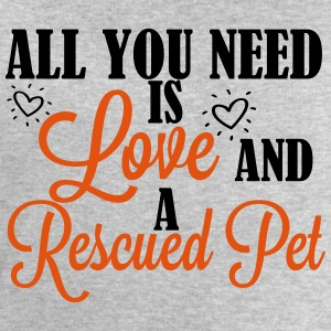 Love and a rescued pet T-shirts - Sweatshirt herr från Stanley & Stella