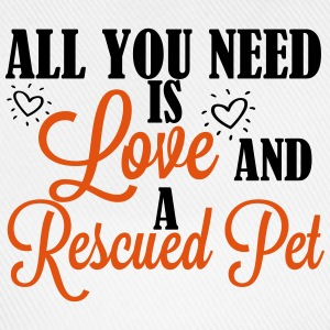 Love and a rescued pet T-shirts - Basebollkeps