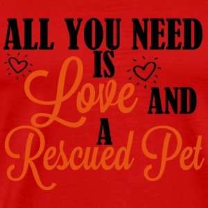 Love and a rescued pet Maglie a manica lunga - Maglietta Premium da uomo
