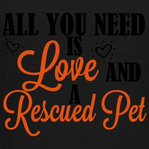 Love and a rescued pet Sweatshirts - Herre premium T-shirt